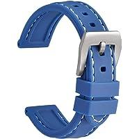 WOCCI Cinturino Orologio in Silicone, Impermeabile e Robusto (18mm 20mm 22mm 24mm)