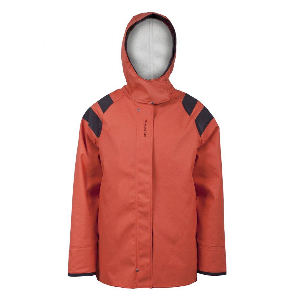 Grundens Sedna Womens Hooded Waterproof Jacket, Orage, XS by Grundens
