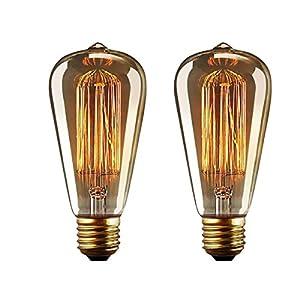 Lampadina Edison E27 Lampadine Edison Vintage Dimmerabile Lampada Retro Filamento Lampade Decorativa 40W Globo Bianco… 1 spesavip