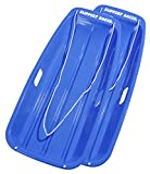 Slippery Racer Downhill Sprinter Snow Sled (2 Pack), Blue