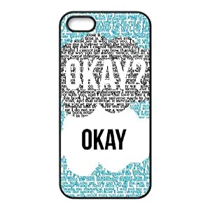 D-PAFD Diy Okay OkaySelling Hard Back Case for Iphone 5 5g 5s