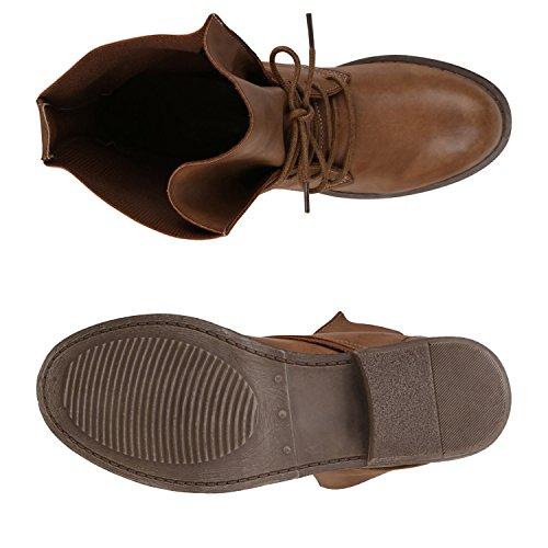 53e09a43b3af87 ... Stiefelparadies Damen Schnürstiefeletten Gefütterte Stiefel Leder-Optik  Stiefeletten Animal Print Velours Boots Blockabsatz Schuhe Flandell