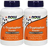 NOW L-Tryptophan Powder 2oz (Pack of 2)
