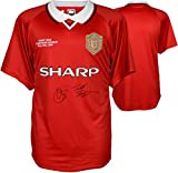 Ole Gunnar Solskjaer & Teddy Sheringham Manchester United Autographed UEFA Champs Jersey - ICONS - Fanatics Authentic Certified