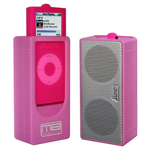 JLab Audio Miniblaster Portable Speaker for iPod nano 2G (Pink)