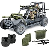 Click N' Play Military Desert Patrol Vehicle (DPV) Buggy Jeep 16 Piece Play Set with Accessories.