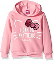 Hello Kitty Girls Hoodie with Screen Print Sugar Glitter Sequins Hooded Sweatshirt