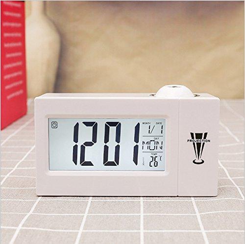 Cunclock LED de alarma de proyección Digital Reloj Nixie hablando ...