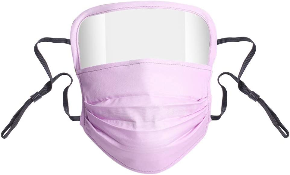 Qstarts Adult Washable Reusable Cotton Mouth Protection Integrated with Eye Shields Anti-Splash Windproof Dustproof Safety Outdoor Riding Protective Mouth Cover with 2 Filters