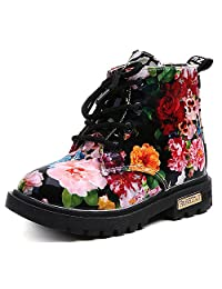 UBELLA Girls Waterproof High Top Warm Snow Boots Child Martin Boots(Toddler/Little Kid)