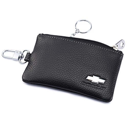 lder Remote Cover Fob with 1 Metal Keychain - Genuine Leather ()