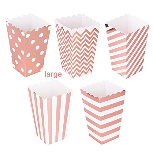 Rose Gold Popcorn Boxes Set of 30pc,6.3