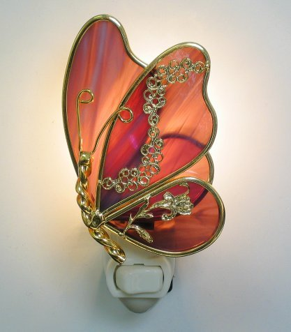 Purple Mauve Butterfly Night Light