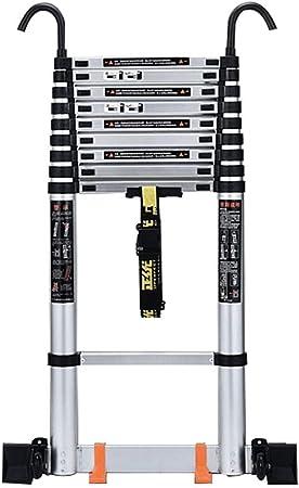 ALYR Aluminio Escalera Telescópica, Telescópica Escalera 150kg / 330lb Capacidad de Carga Extensible Escaleras de Mano con estabilizador para Uso doméstico Techo RV Actividades,3.5m/11.5ft: Amazon.es: Hogar