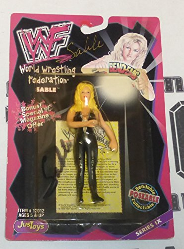 Sable Signed 1998 WWF Bend-Ems Action Figure COA WWE Wrestling Series 9 - PSA/DNA Certified - Autographed Wrestling Cards
