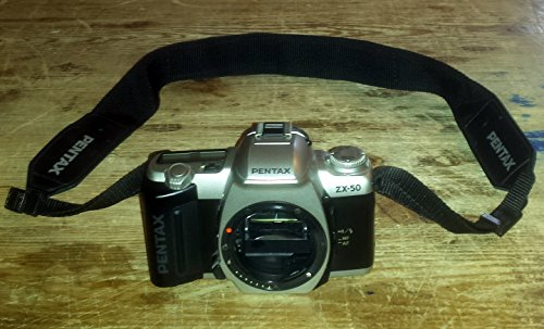 Pentax ZX-50 film camera with lens mount, strap and new batt