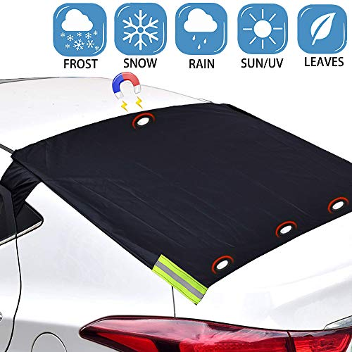 Big Hippo Rear Windshield Snow Cover,Car Windshield Snow Cover for Ice,Snow,Frost,UV Protection, Magnetic Windshield Cover Fits Most Car, SUV, Truck, Van with 57x 35