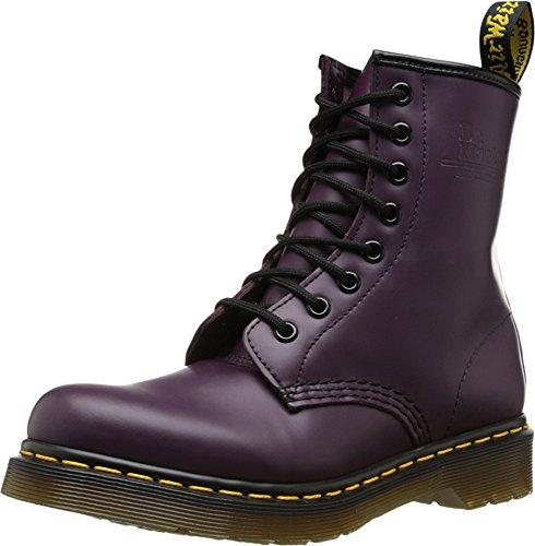 Dr. Martens 1460 Re-Invented 8 Eye Lace Up Boot,Purple Smooth Leather,7 UK / 8 US Mens / 9 US Womens