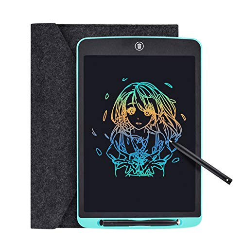 Tyhbelle LCD Writing Tablet, 12 inch Colorful Digital ewriter Electronic Graphics Tablet Memory Lock Portable Writing Board Handwriting Pad Drawing Tablet for Kids Home School Office (Blue - 12 inch)