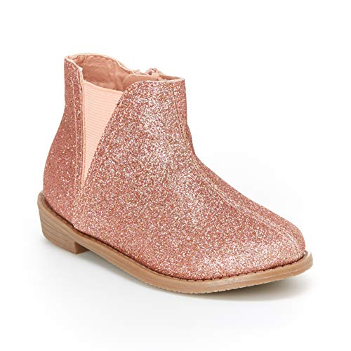 - carter's Girl's Carmina Chelsea Bootie Ankle Boot, Rose Gold, 9 M US Toddler