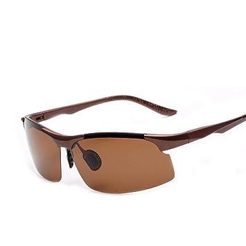 FRFG Gafas de Sol polarizadas imitación de Aluminio y magnesio Gafas de Sol de Color película