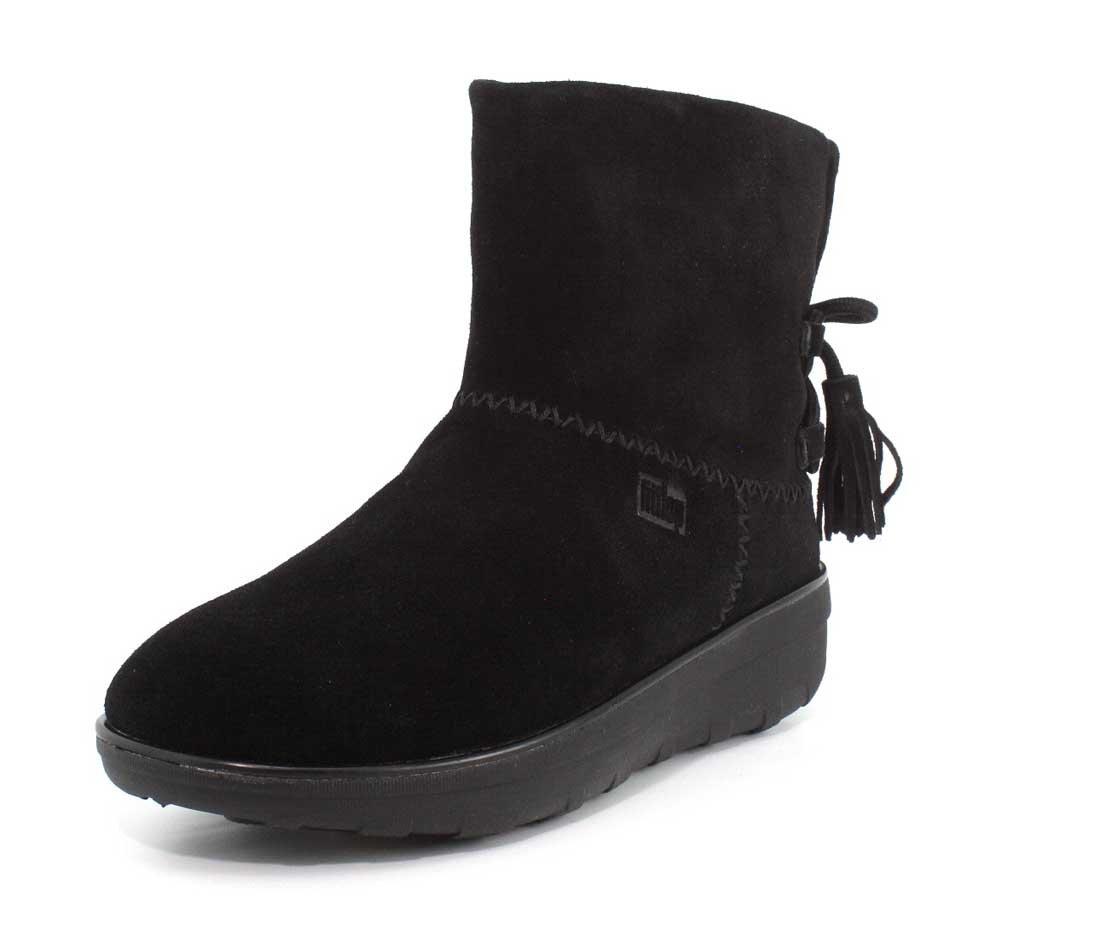 FitFlop Womens Mukluk Shorty II Boots w/ Tassels B071H7CPBV 8 B(M) US|Black