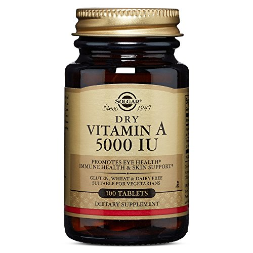 Dry Vitamin A 5000 IU, 100 Tablets