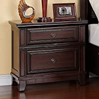 Picket House Furnishings Harland Nightstand Traditional/Espresso/Solid Pine
