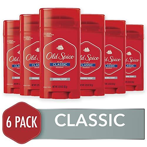 Old Spice Classic Deodorant Stick, Original 3.25 oz (Pack of 6)