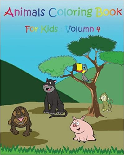 Animals Coloring Book For Kids: Zoo Happy Coloring Book (Volume 4)
