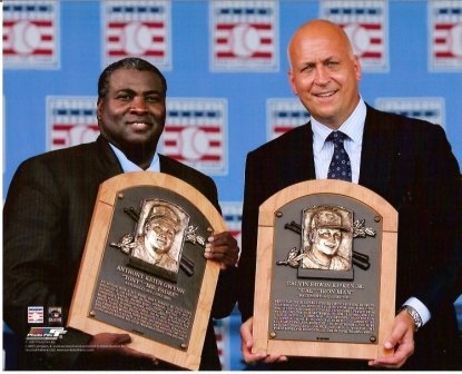 Tony Gwynn & Cal Ripken, Jr. 2007 Hall of Fame 8x10 Photo ()