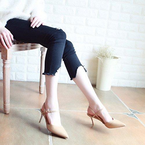 b4d7c97b ... y Creepers para chicos y chicas   Sellinterest YMFIE El Estilo Europeo  de Verano Puntiagudos Delgado Sexy Zapatos de tacón Alto Sandalias de Damas  a