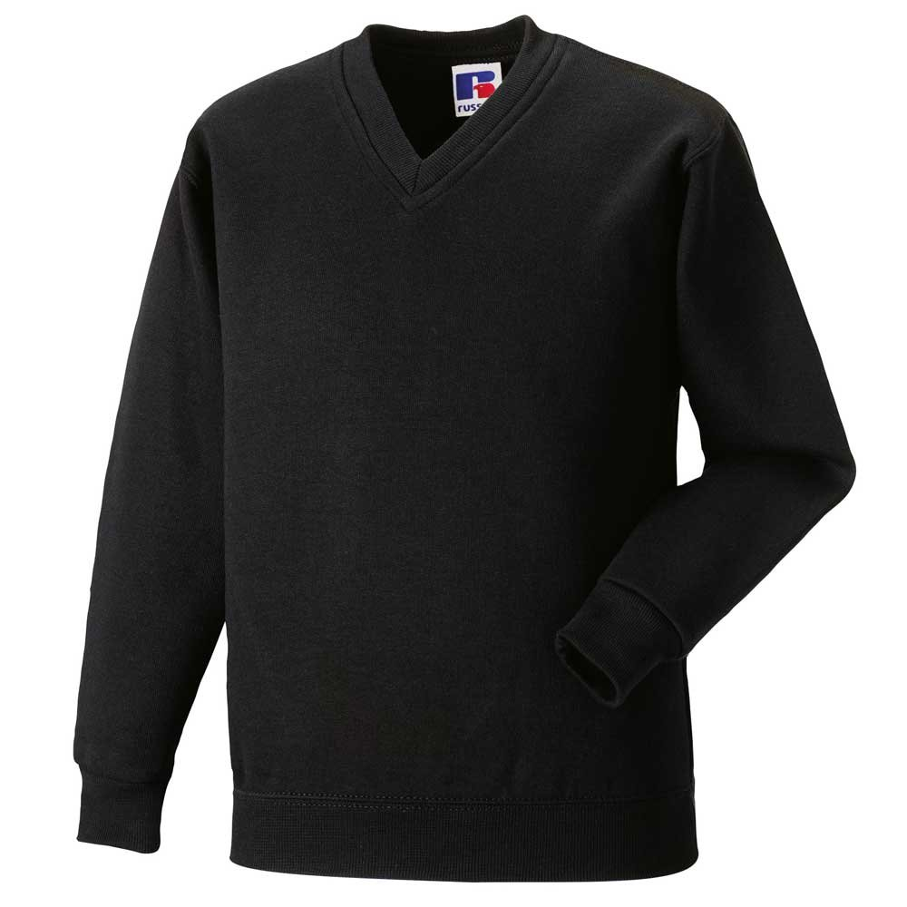 Jerzees Russell Mens V-Neck Long Sleeve Sweatshirt
