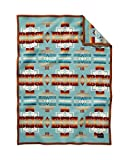 Pendleton Chief Joseph Crib Blanket, Aqua Review