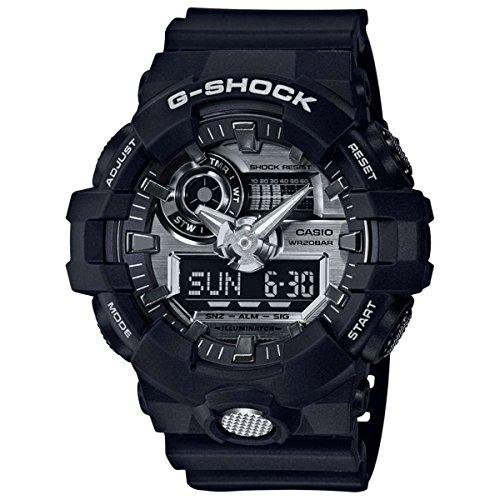 Men's Casio G-Shock GA700 Black and Silver-Tone Resin Watch GA710-1A