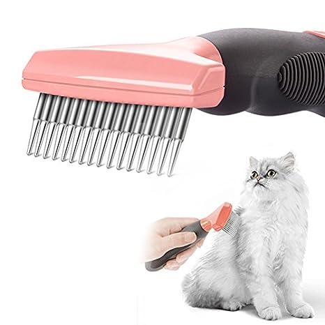 Nclon Cepillo Para Perros Y Gatos,Profesional Mascota Aseo Herramienta Elimina Muerto Undercoat,Perro