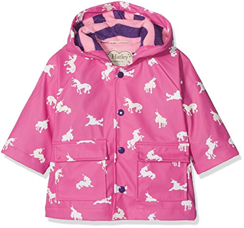 - Hatley Baby Girls Printed Raincoats, Colour Changing Unicorn Silhouettes, 18-24 Months