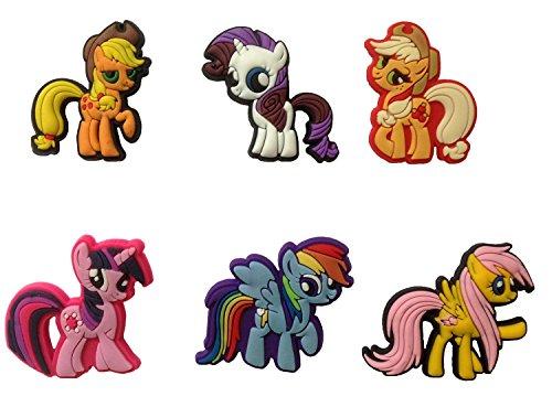 [Little Pony Badges - Brooches 6 Pcs Set #2] (Disney Tinker Bell Kids Sparkle Shoes)