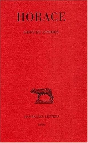 Odes et Epodes Broché – 15 janvier 2003 Horace F. Villeneuve Les Belles Lettres 2251010998