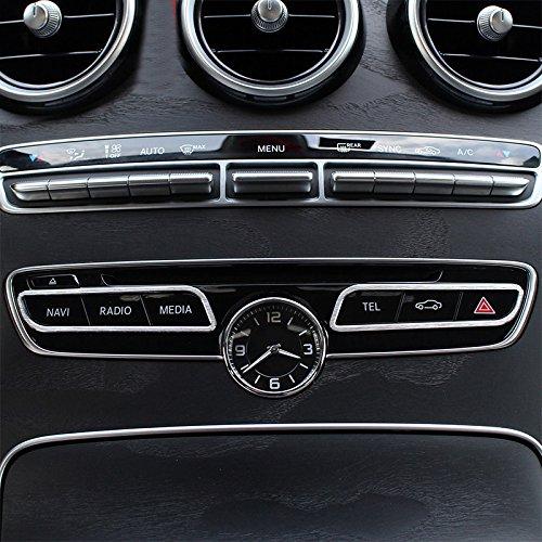 Aleaci/ón de aluminio mate interior centro consola bot/ón decorativo de coche 2pcs para coche accesorios BZ
