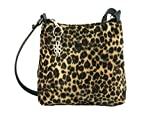 Loni Womens Trendy Animal Print Faux Fur Shoulder Bag/Cross-Body Bag in Leopard Small