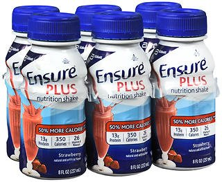 Ensure Plus Nutrition Shakes Strawberry, 24 - 8 oz, Pack of 2 by Ensure