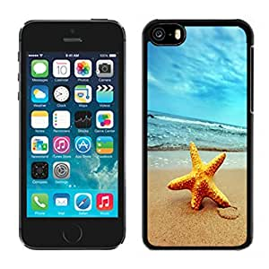 Designer Iphone 5c Case Starfish on Beach Black Protective Phone Cover Gifts