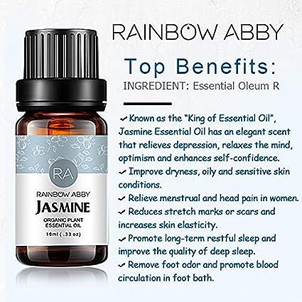 Aceite Esencial de Jazmín, Aceite de Jazmín de Aromaterapia ...