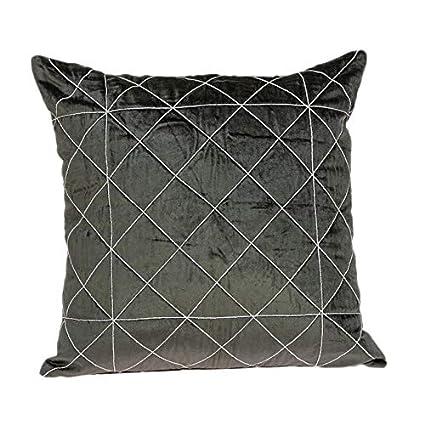 Amazon.com: Parkland Collection Transitional Square Pillow ...