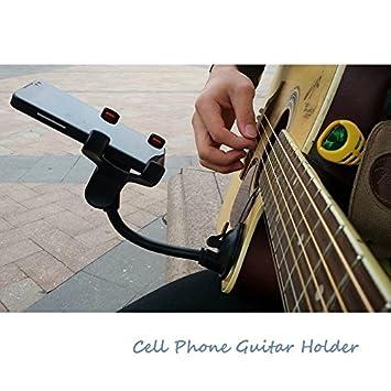 Soporte para teléfono Soporte para guitarra calle cantando letras canción soporte de coche con ventosa ventosas músicos guitarra soporte soporte de coche ...