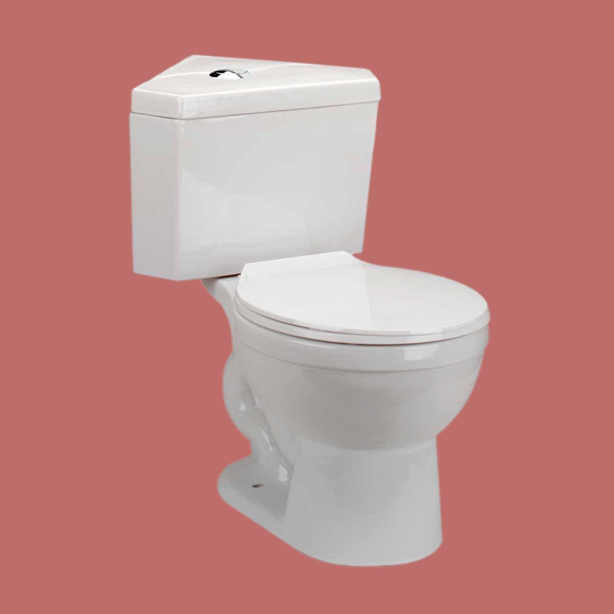 Bathroom Corner White Round Space Saving Dual Flush Toilet Grade A ...