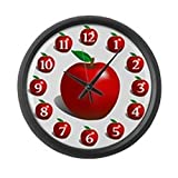 Cheap CafePress – Red Apple Fruit – Large 17″ Round Wall Clock, Unique Decorative Clock