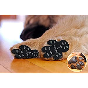 LOOBANI PadGrips 48 Pads丨Dog Paw Protector Anti-Slip Traction Pads to Keeps Dogs from Slipping On Hard Floors丨Walk Assistant for Your Senior Dogs 45