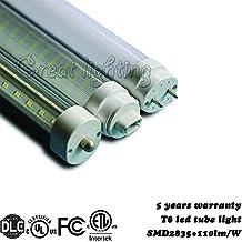 LED Light duble bar Strip Light Single Pin FA8base(Pin to pin 2385mm) led lamp tube 110V Clear cover T8 Tube Light V shape 8ft 48W ETL listed 110lm/W 5000K(white) led tubo lighting-15PACK